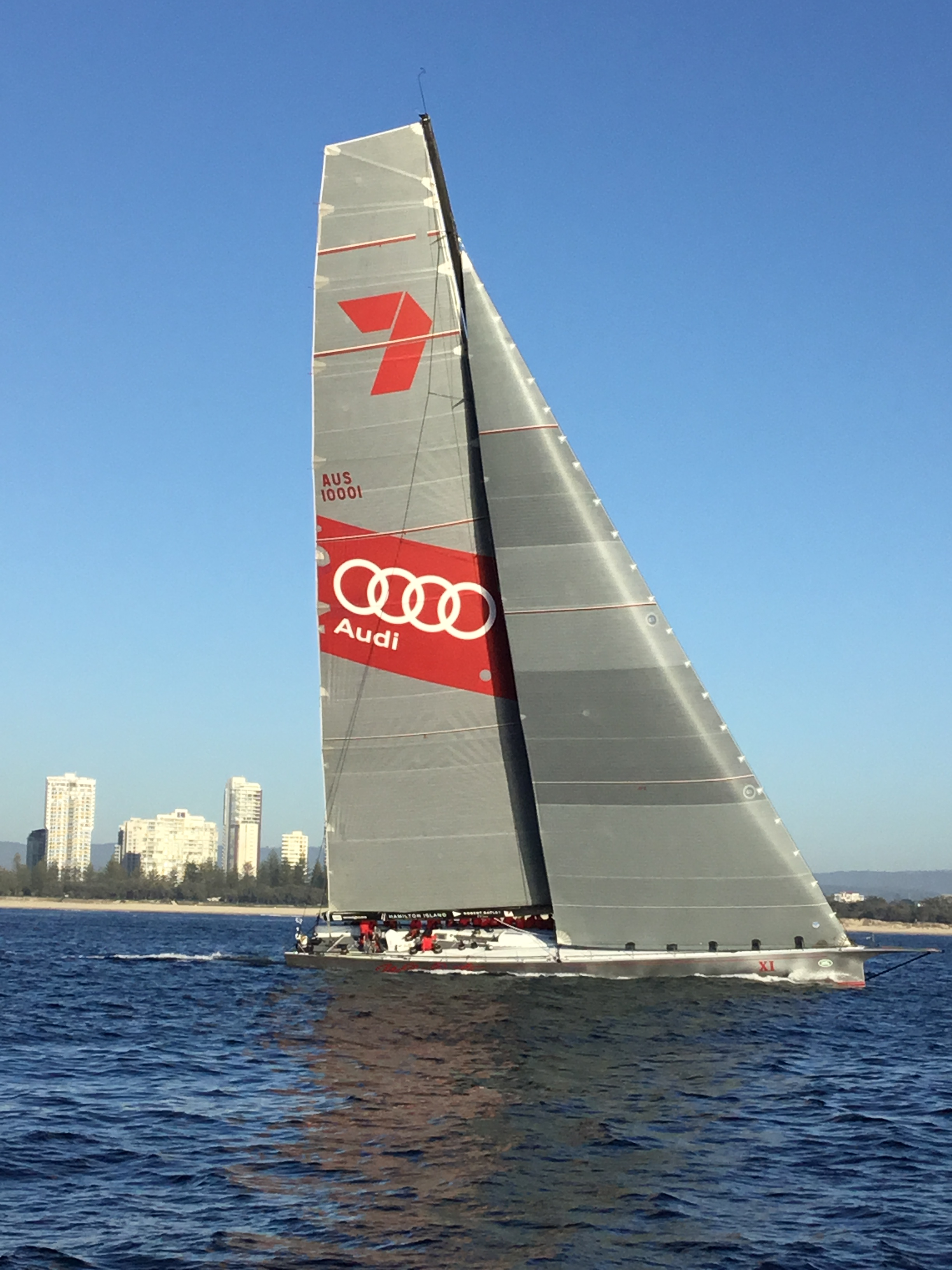 Supermaxi yacht Wild Oats XI  claims line honours in the  Land Rover Sydney Gold Coast race