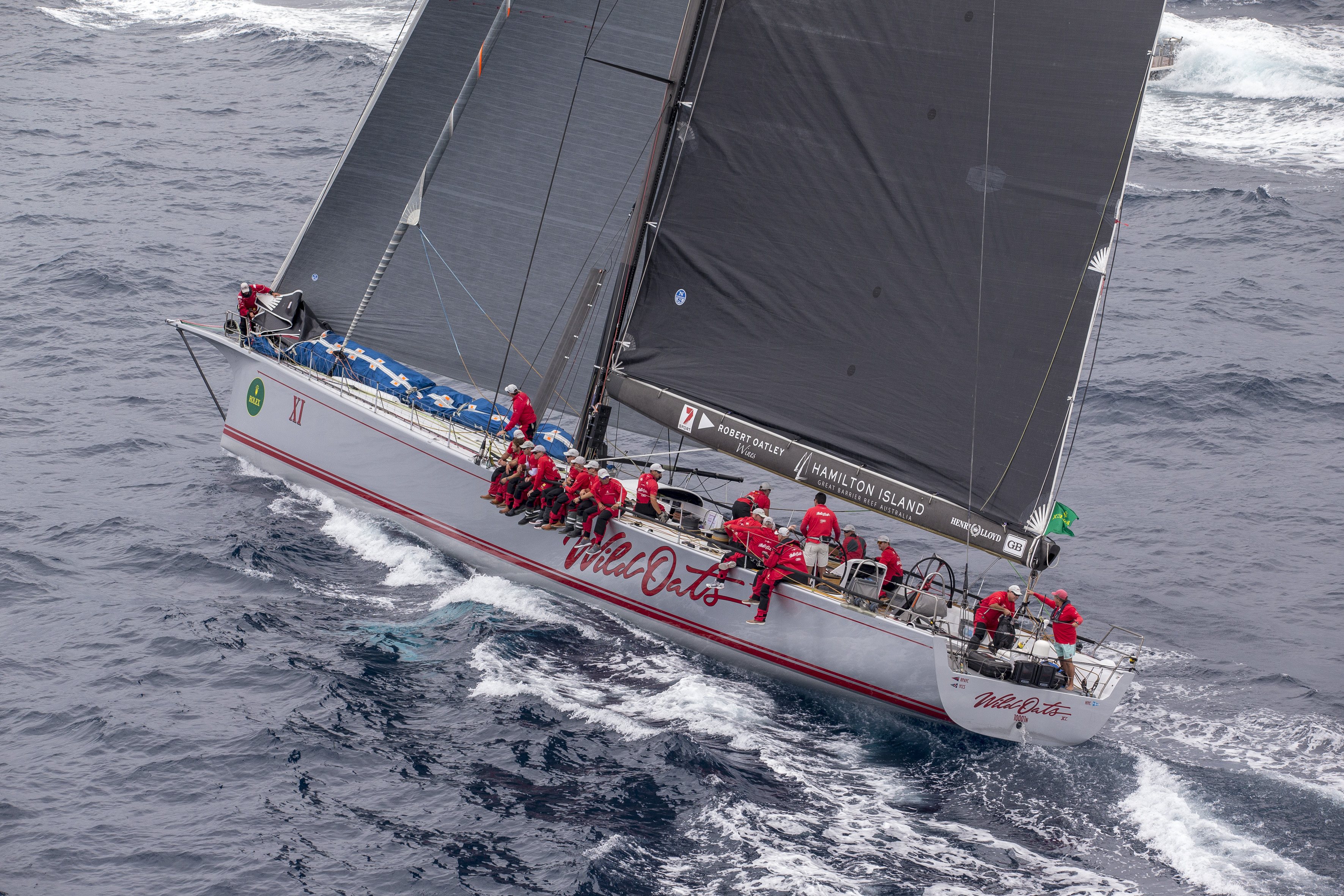 A GRANDSTAND FINISH LOOMS IN THE ROLEX SYDNEY TO HOBART YACHT RACE